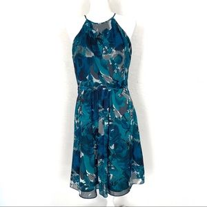 Ann Taylor floral sleeveless fit and flare dress